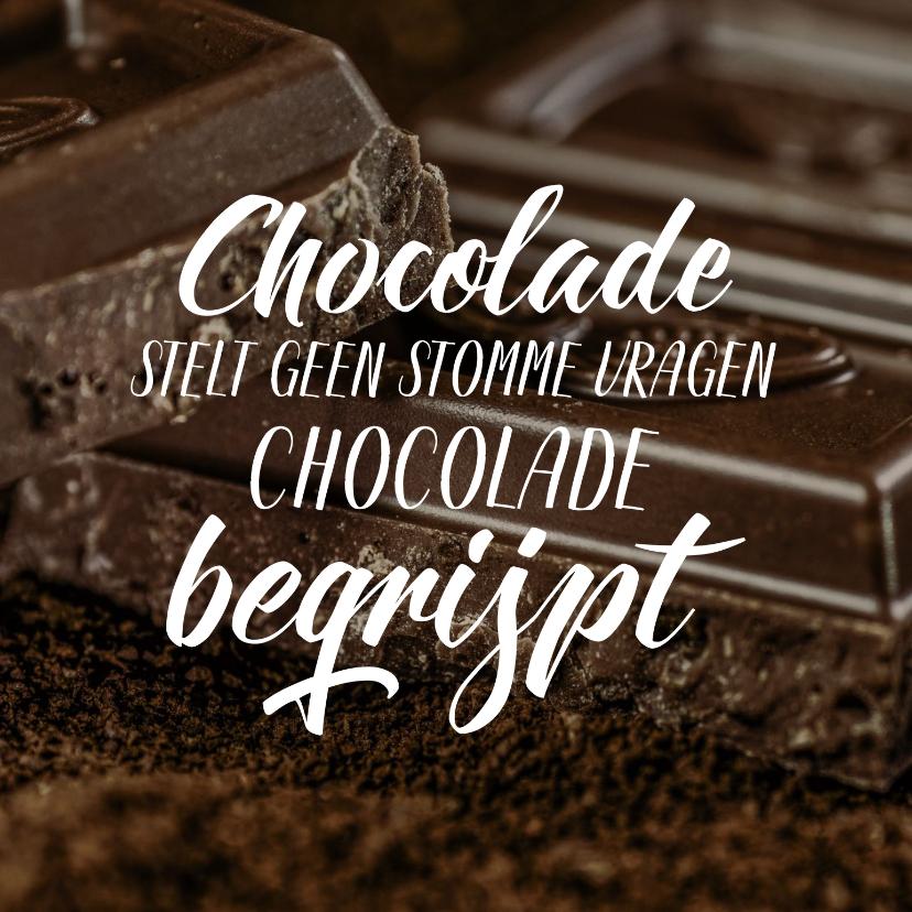 Beterschapskaarten - Beterschap chocolade stelt geen stomme vragen