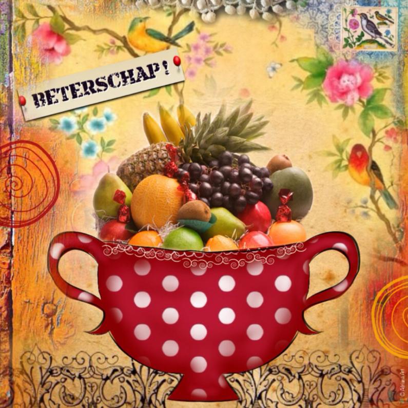 Beterschapskaarten - Beterschap fruitschaal