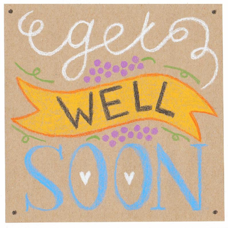 Beterschapskaarten - Beterschap, get well soon