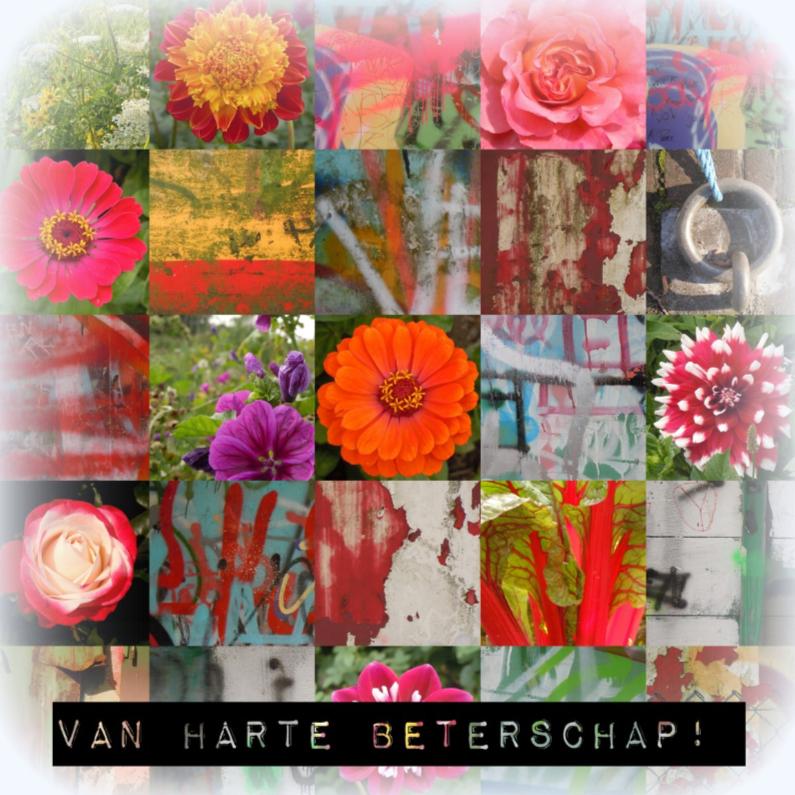 Beterschapskaarten - Beterschap Happy Flowers IW