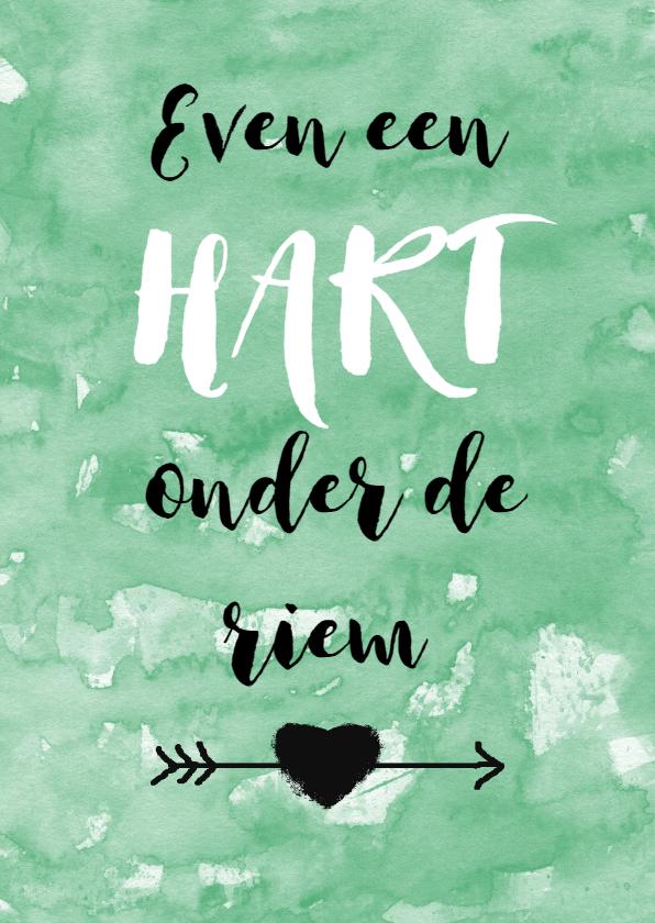 Beterschapskaarten - Beterschap hart onder riem