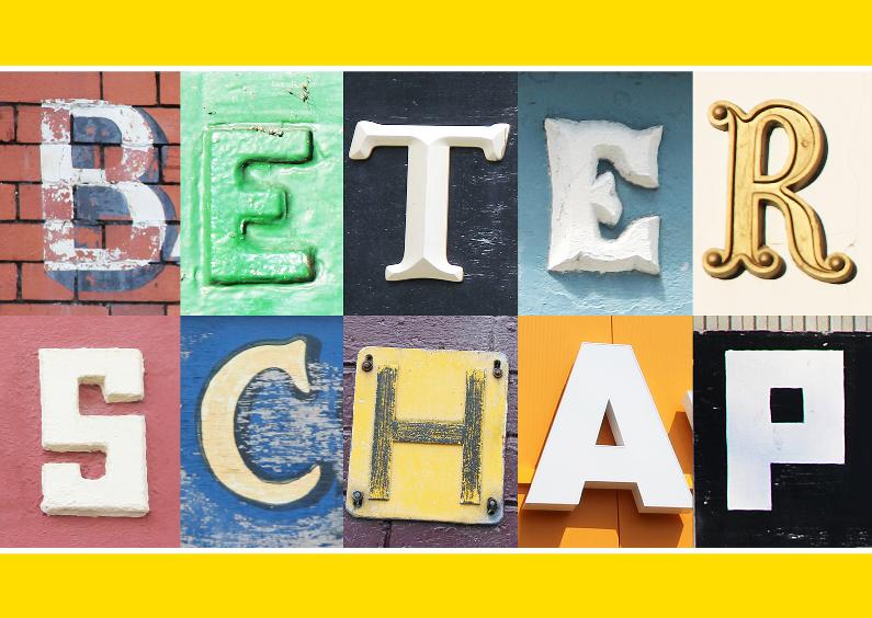 Beterschapskaarten - Beterschap in letters