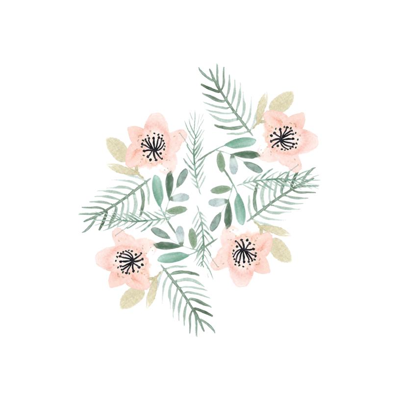 Beterschapskaarten - Beterschap kaart met bloemen aquarel - natuur