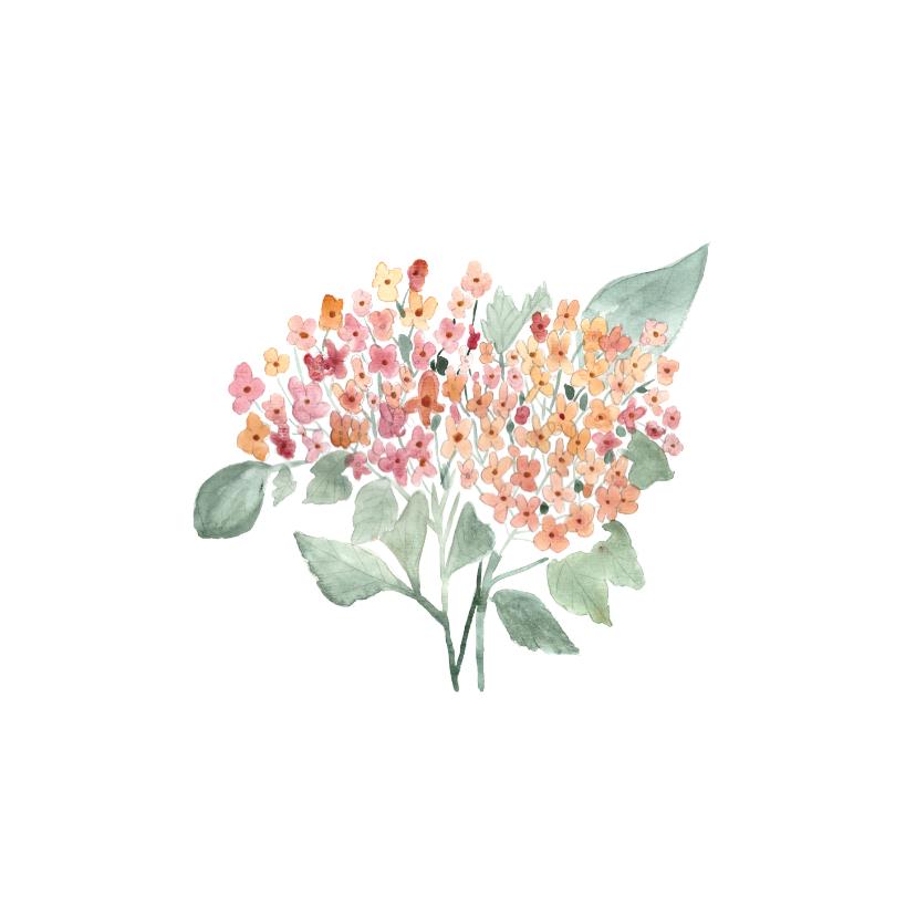 Beterschapskaarten - Beterschap kaart met hortensia - natuur