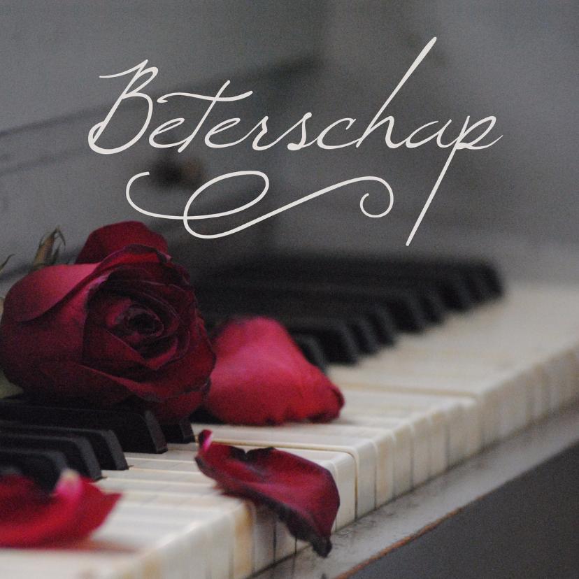 Beterschapskaarten - Beterschap kaart muziek piano