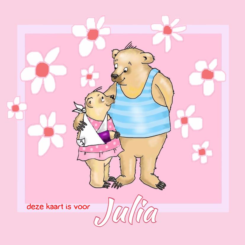 Beterschapskaarten - Beterschap meisjes beer met gips