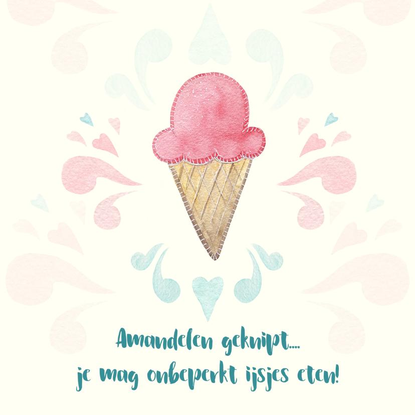 Beterschapskaarten - Beterschap met ijsje