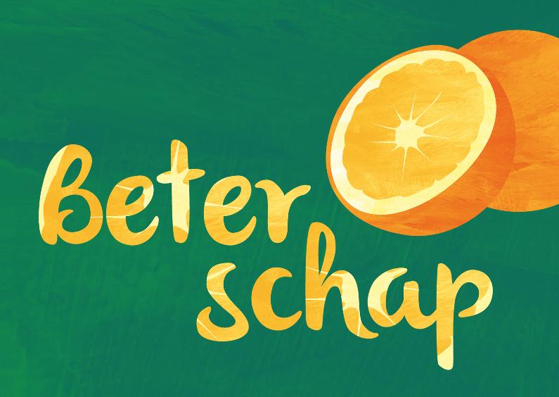 Beterschapskaarten - Beterschap met sinaasappels