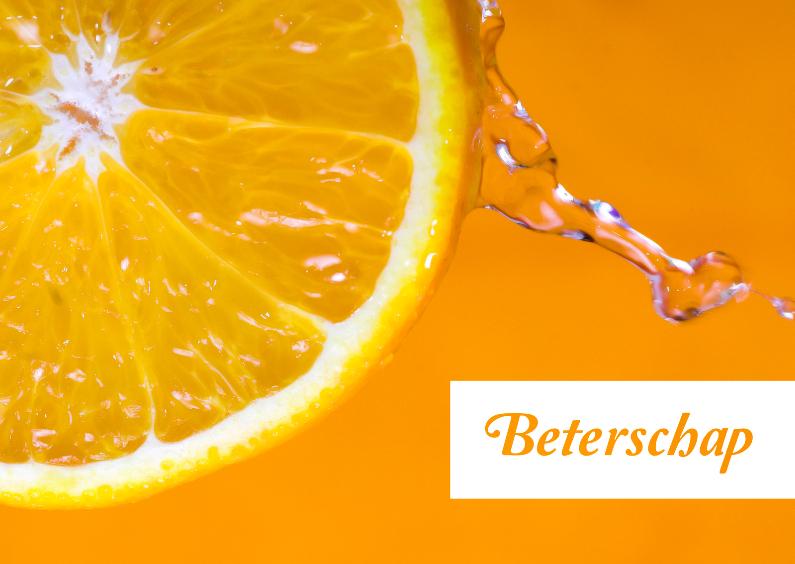 Beterschapskaarten - Beterschap sinasappel