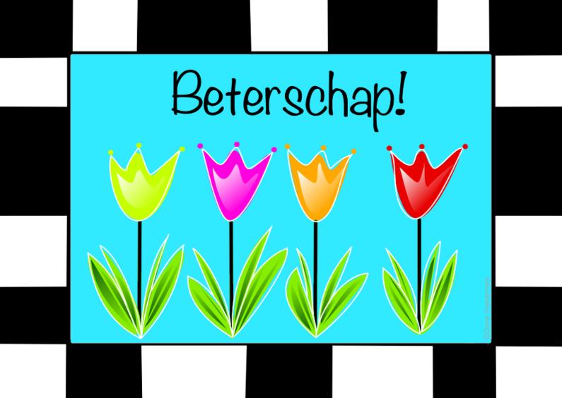Beterschapskaarten - Beterschap tulpen