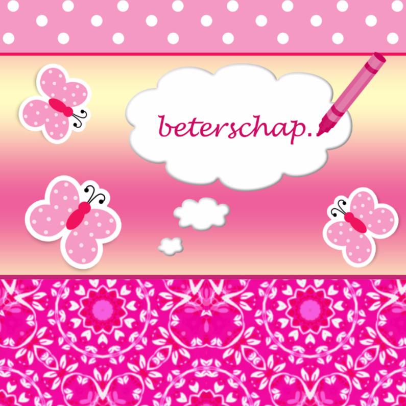 Beterschapskaarten - beterschap voor een meisje