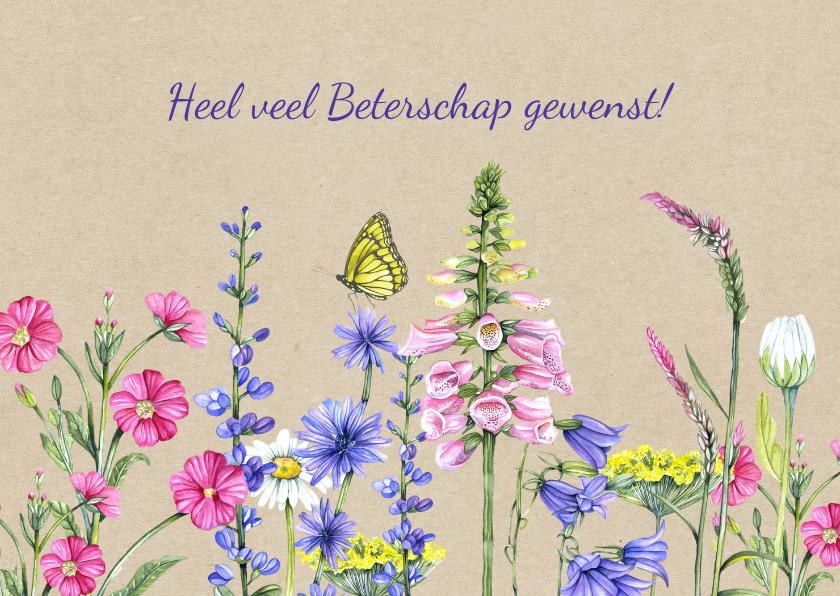 Beterschapskaarten - Beterschap wilde bloemen