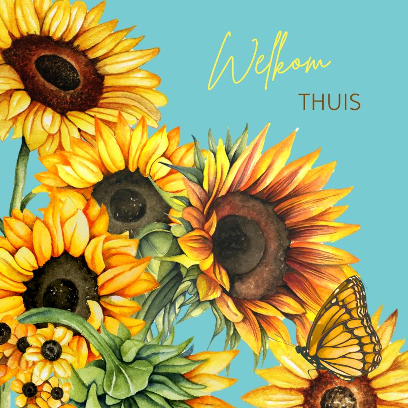 Beterschapskaarten - Beterschap zonnebloemen