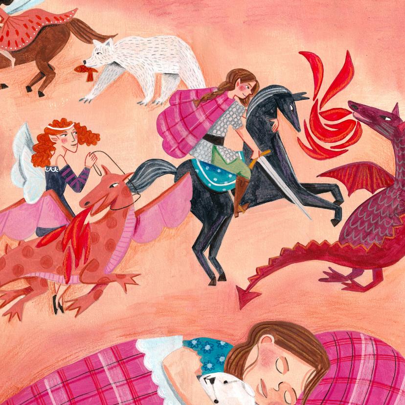 Beterschapskaarten - Beterschapkaart draken, beren,prinsessen en heldin