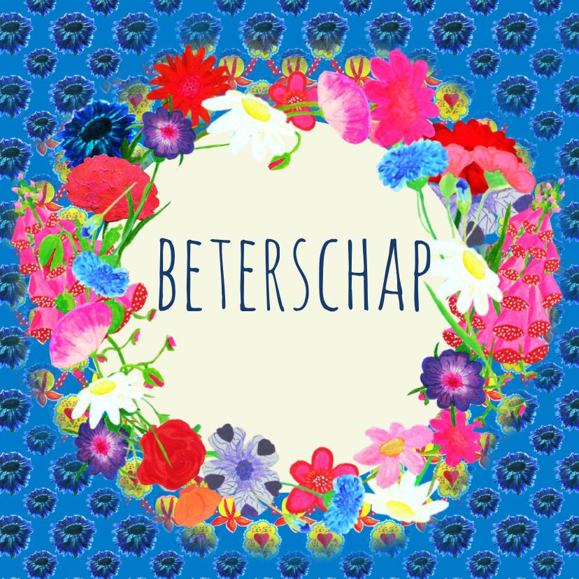 Beterschapskaarten - Beterschapskaart bloemencirkelPA