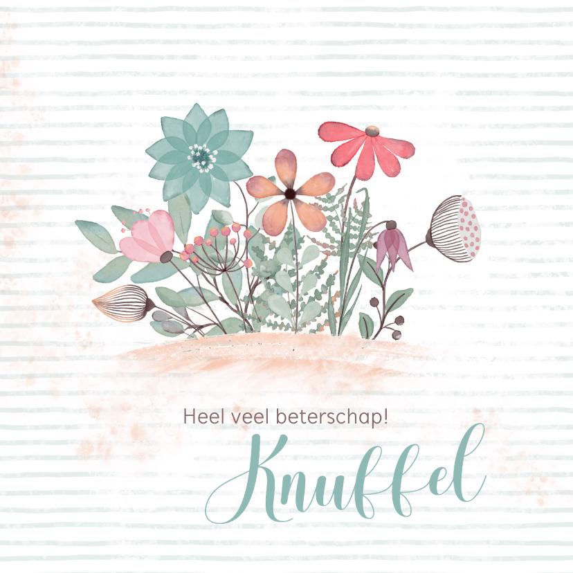 Beterschapskaarten - Beterschapskaart bloemenillustratie