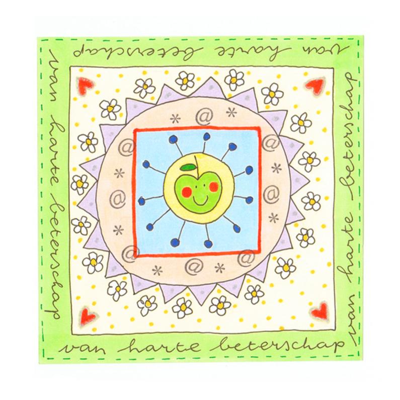 Beterschapskaarten - Beterschapskaart  groene appel