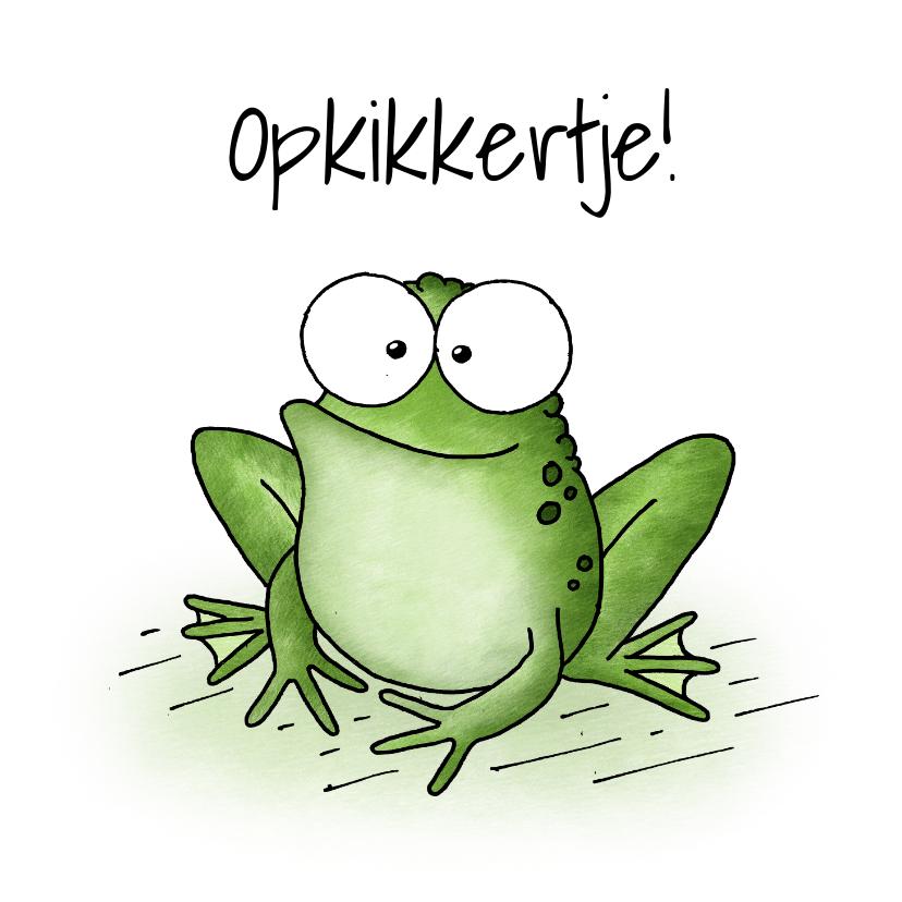 Beterschapskaarten - Beterschapskaart kikker - Opkikkertje!
