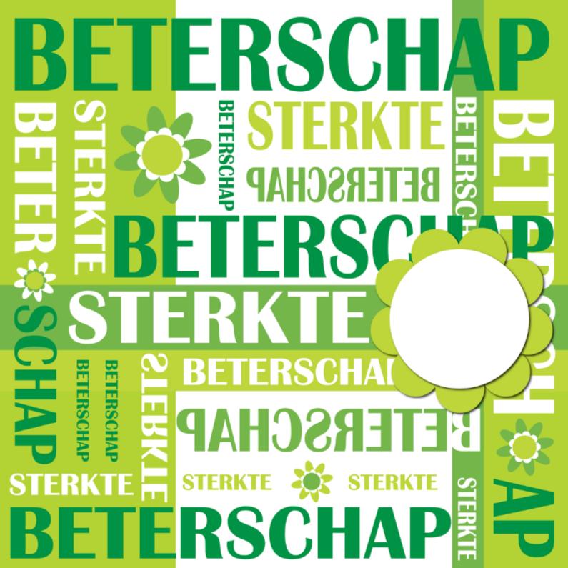 Beterschapskaarten - Beterschapskaart LB tekst groen