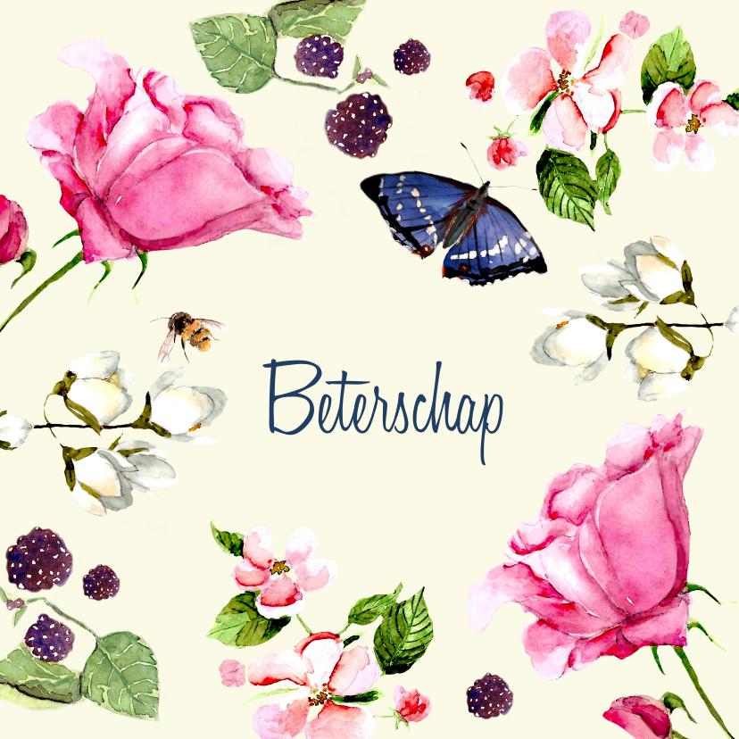 Beterschapskaarten - Beterschapskaart Lieve bloemen