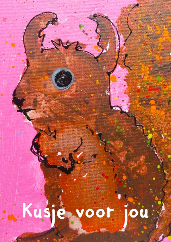 Beterschapskaarten - Beterschapskaart lieve eekhoorn