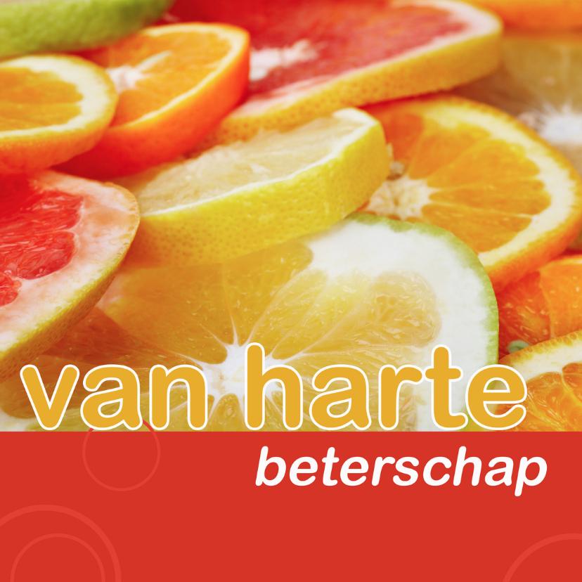 Beterschapskaarten - beterschapskaart met citrusfruit