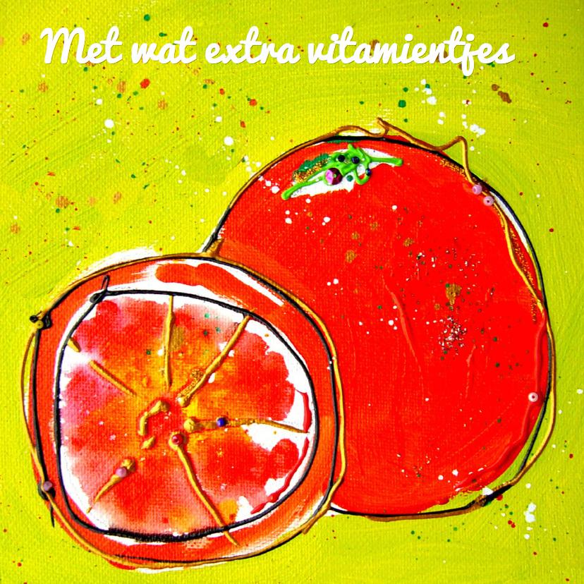 Beterschapskaarten - Beterschapskaart met sinaasappel