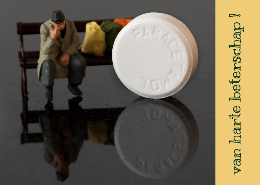 Beterschapskaarten - beterschapskaart paracetamol MM