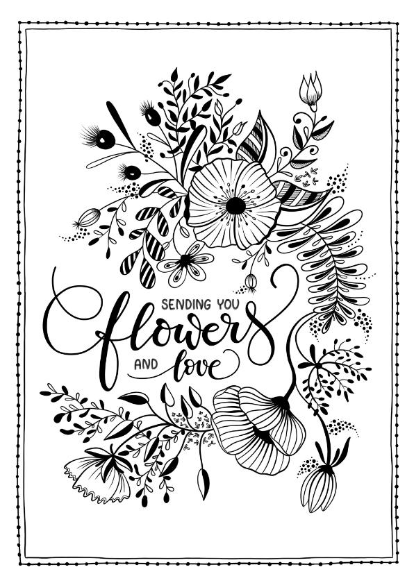 Beterschapskaarten - Beterschapskaart sending flowers