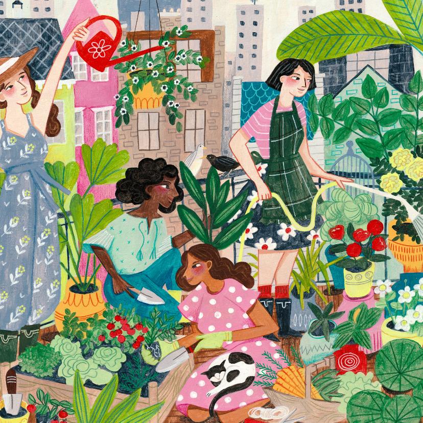 Beterschapskaarten - Beterschapskaart urban gardening tuinieren in de stad