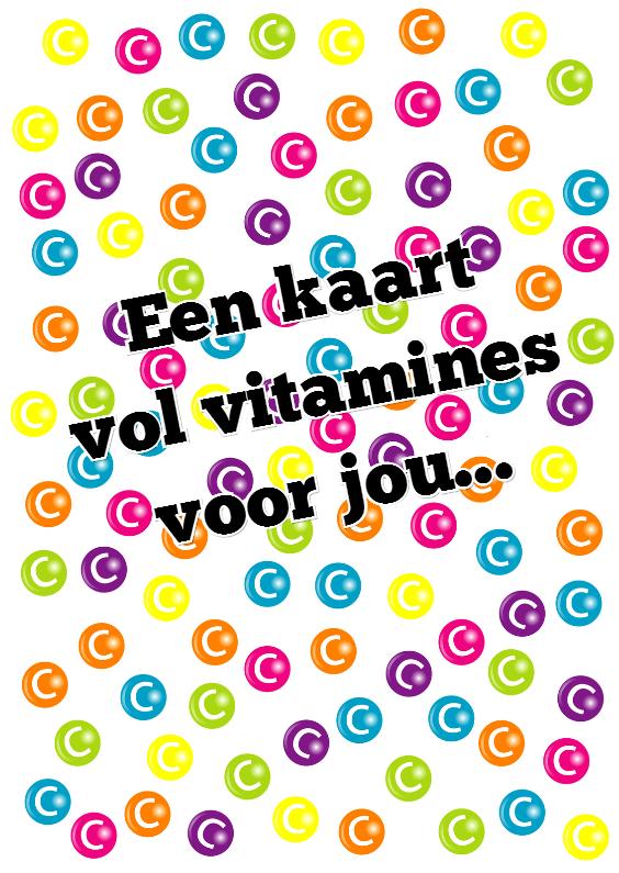 Beterschapskaarten - Beterschapskaart vitamines - SZ