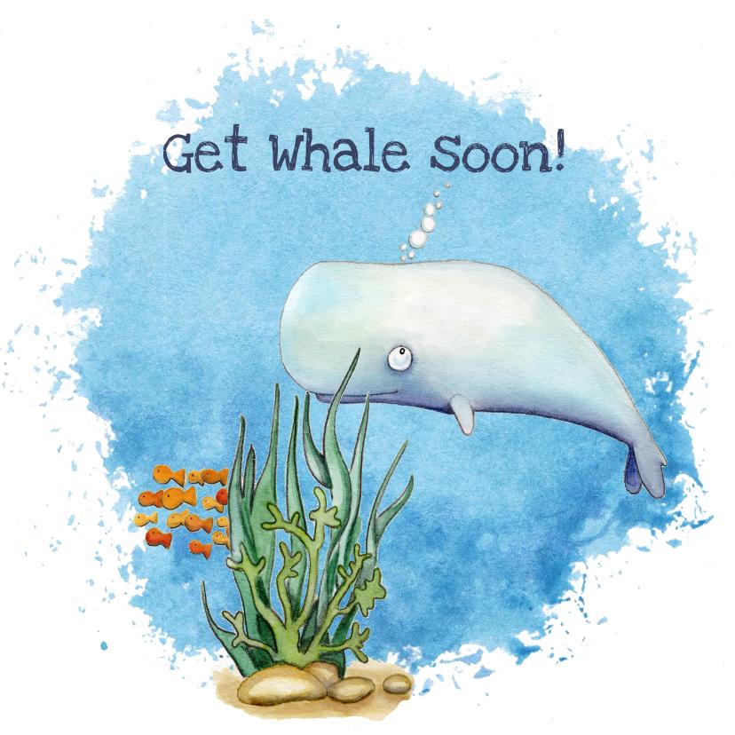 Beterschapskaarten - Beterschapskaarten Get whale soon