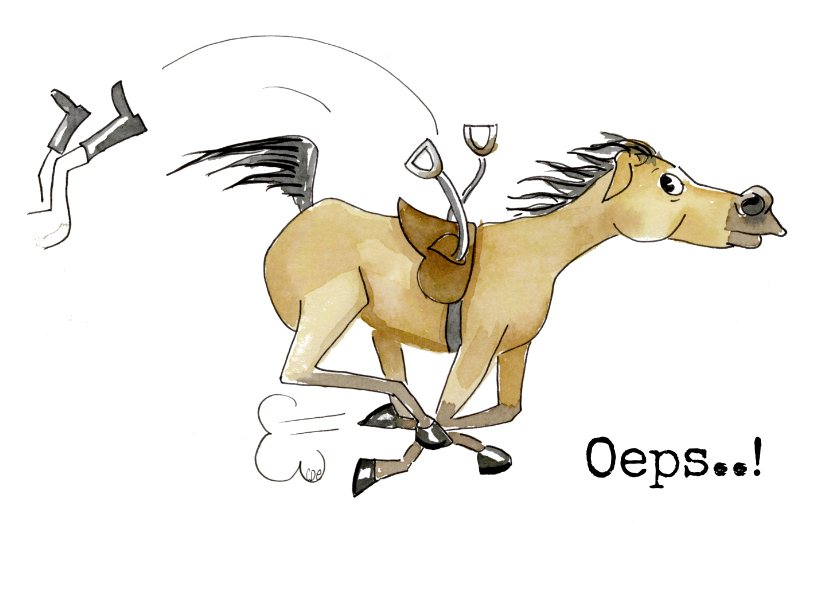 Beterschapskaarten - Beterschapskaarten van paard gevallen