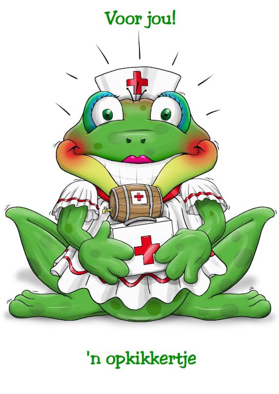 Beterschapskaarten - Een opkikkertje verpleegster 2