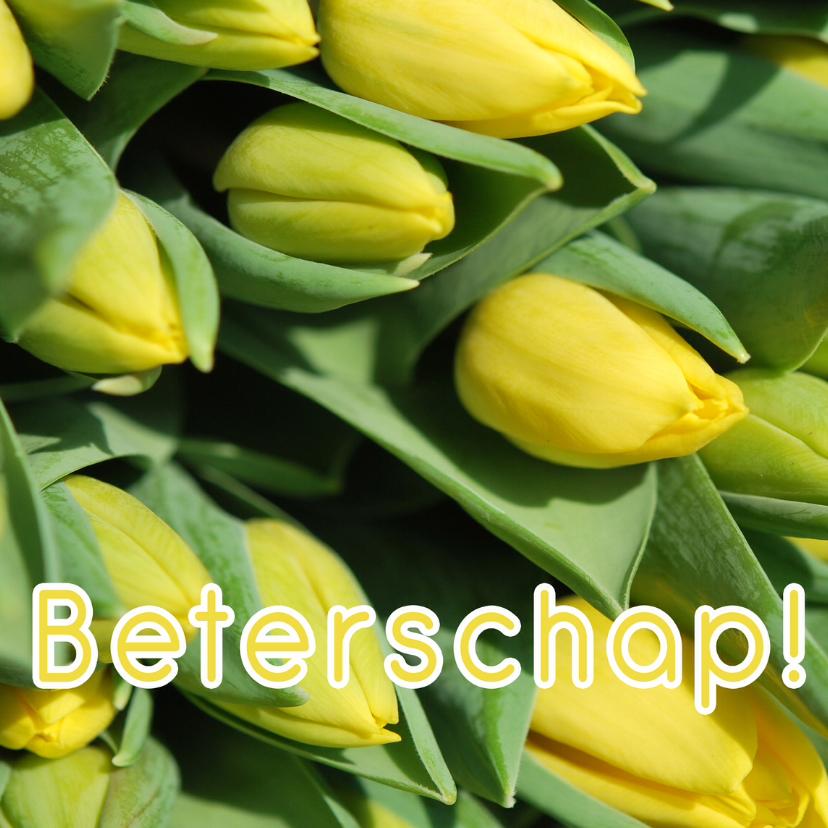 Beterschapskaarten - Fotokaart beterschap tulpen