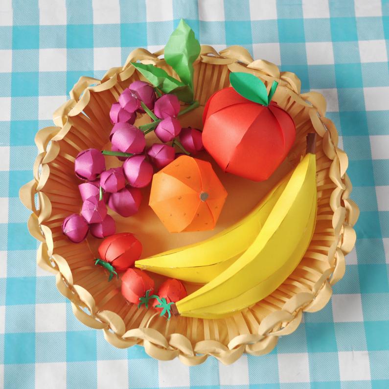 Beterschapskaarten - fruitmand vierkant