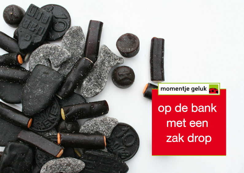 Beterschapskaarten - geluksmoment op de bank met drop