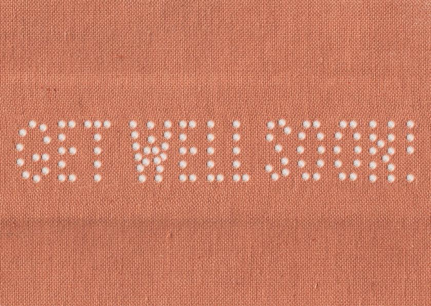 Beterschapskaarten - Get well soon beterschap pleister