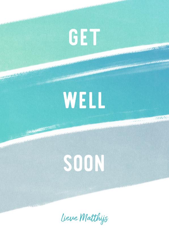 Beterschapskaarten - Get Well Soon beterschapskaart krijt man