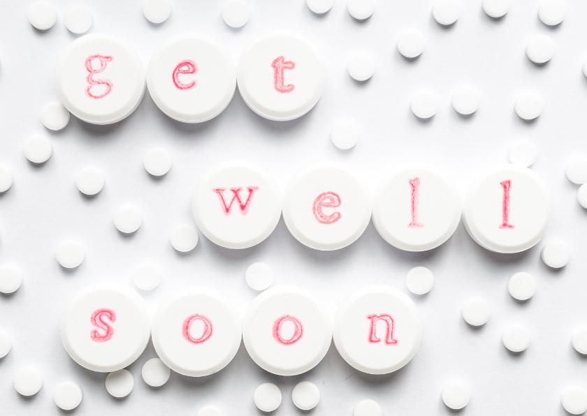 Beterschapskaarten - Get well soon - on pills