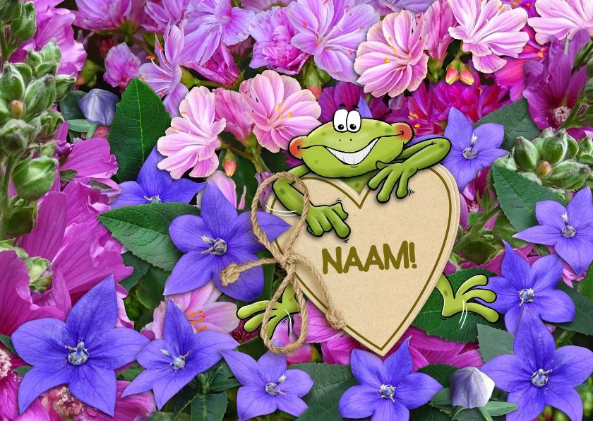 Beterschapskaarten - Grappige opkikker met hart en bloemen