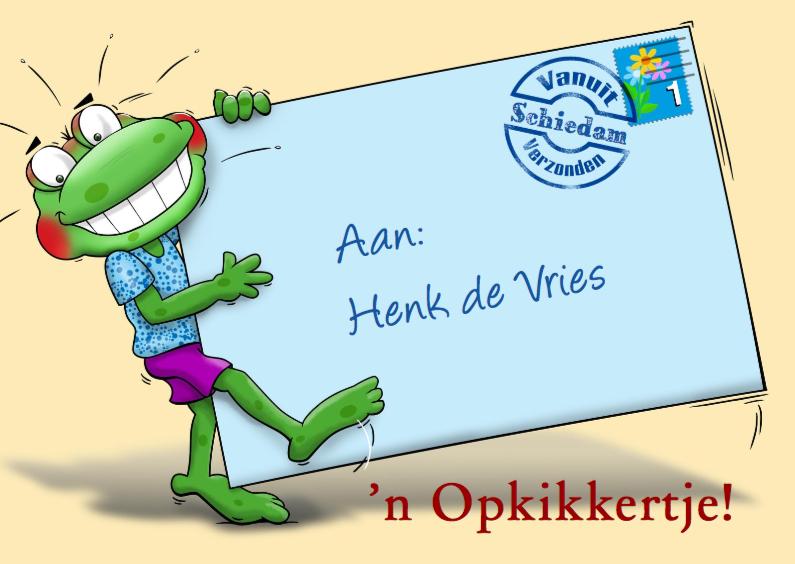 Beterschapskaarten - Leuke beterschapskaart met kikker en briefje