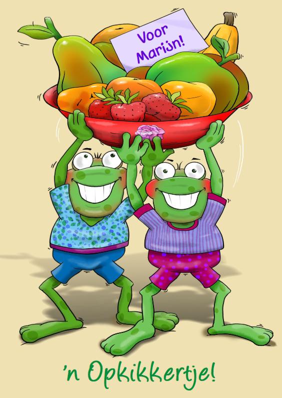 Beterschapskaarten - Opkikker met fruitschaal