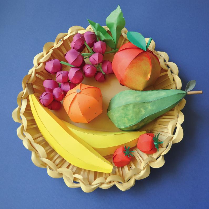 Beterschapskaarten - Papieren fruitschaal