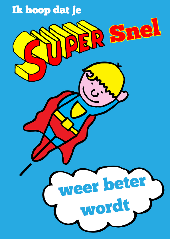 Beterschapskaarten - supersnel beterschap blond