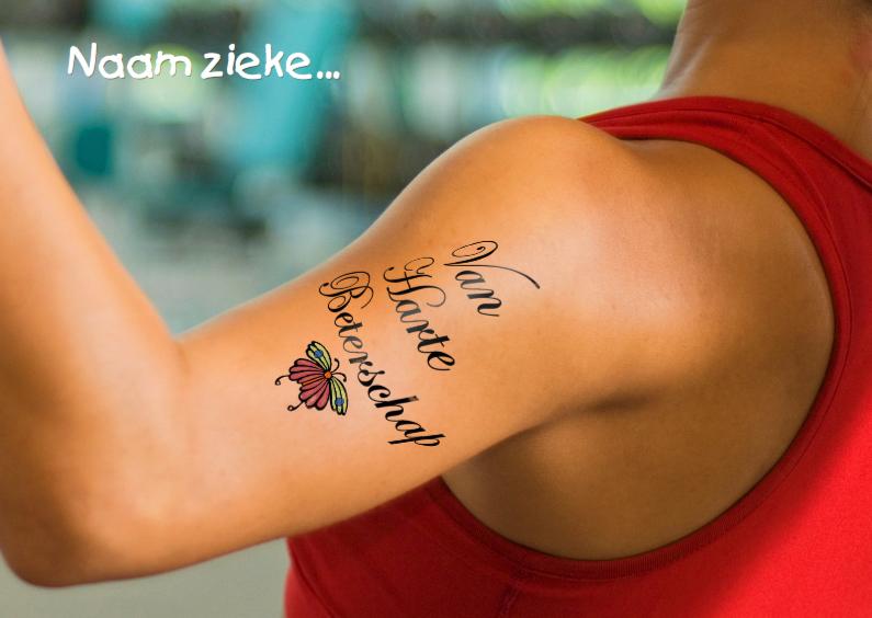 Beterschapskaarten - Tattoo Beterschapskaart