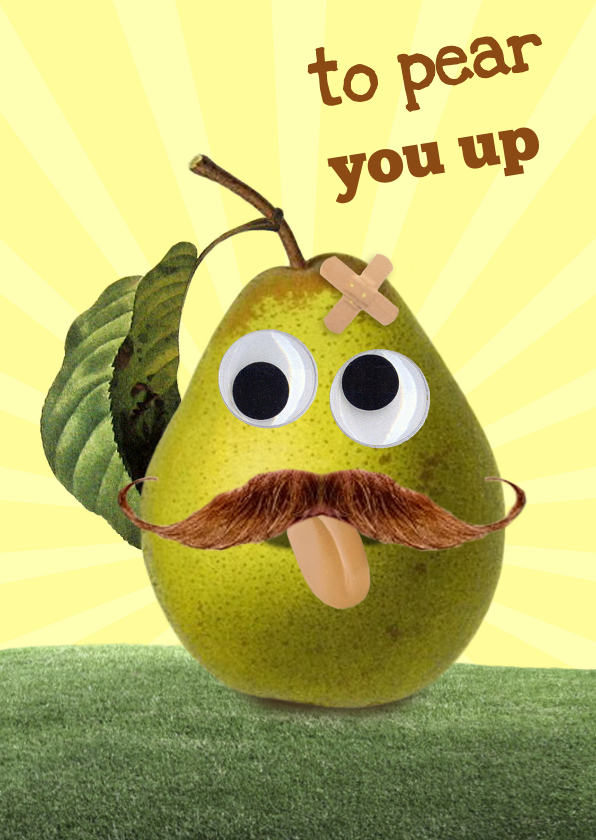 Beterschapskaarten - To pear you up - pleister