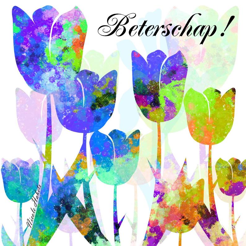 Beterschapskaarten - Tulpen beterschap