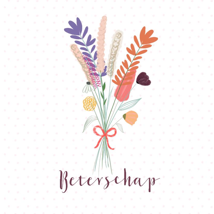 Beterschapskaarten - Veldbloemenboeket beterschap