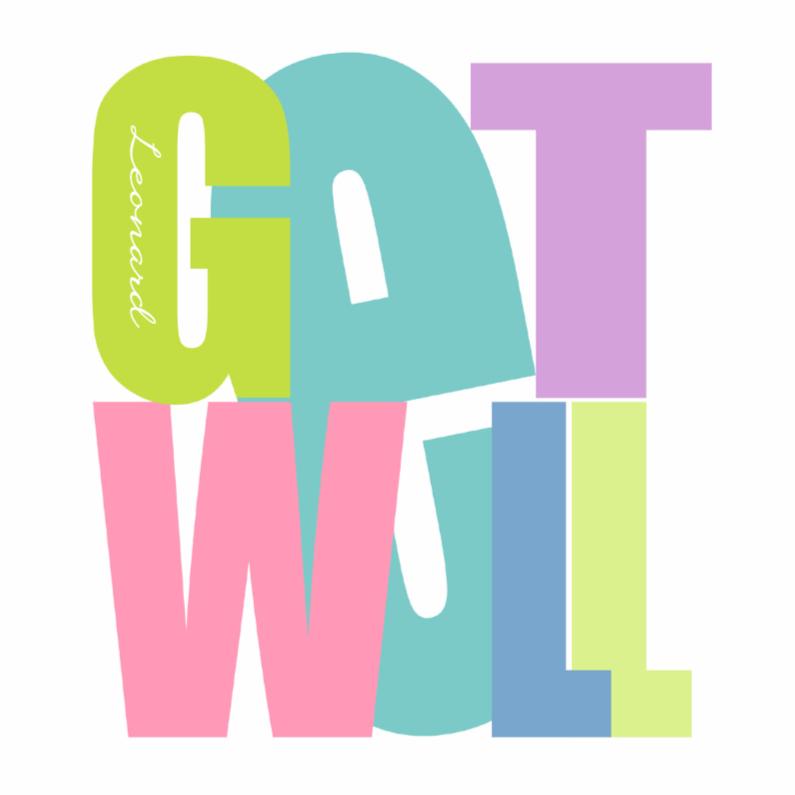 Beterschapskaarten - Woorden Get Well - BK